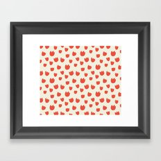 Dots of Tulips Framed Art Print