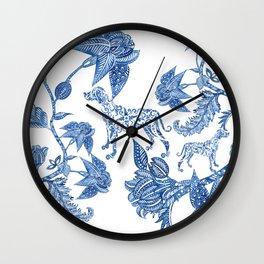 BLUE BATIK WEIMS Wall Clock