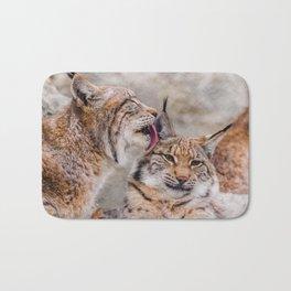 Eurasian lynx Bath Mat
