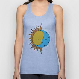Sun and Moon Unisex Tank Top