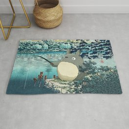 Japanese woodblock mashup Rug