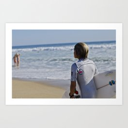 Surfer Boy Art Print