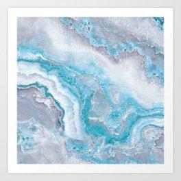 Ocean Foam Mermaid Marble Kunstdrucke
