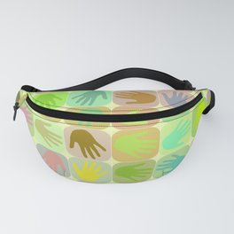 Multicolored hands pattern Fanny Pack