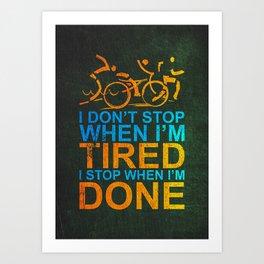 Triathlon Motivation Art Print