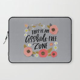 Pretty Swe*ry: This is an Asshole-free Zone Laptop Sleeve