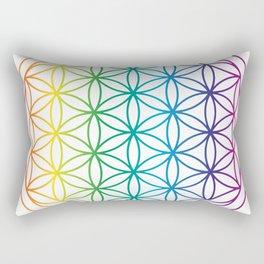 Flower Of Life Rainbow Sacred Geometry Rectangular Pillow