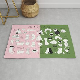 cute cat doodles cats Rug
