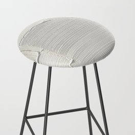 Relief [2]: an abstract, textured piece in white by Alyssa Hamilton Art Bar Stool