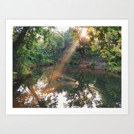 Sunset on the Springs Pt. 3 Art Print