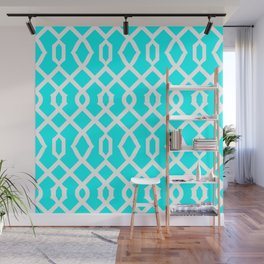 Grille No. 3 -- Cyan Wall Mural