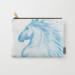 Horse In Blue Carry-All Pouch