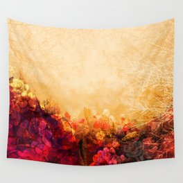 LOVELY FLOWERS ARE KISSING A YELLOW FIELD II Wall Tapestry
