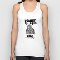 planet of the apes Tank Tops featuring Planet of the Apes Soap by peter glanting