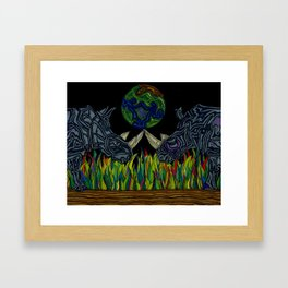 The balancing act Framed Art Print