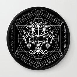Kabbalah The Tree of Life Sacred Geometry Ornament Wall Clock
