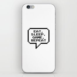 Eat Sleep Game Repeat iPhone Skin