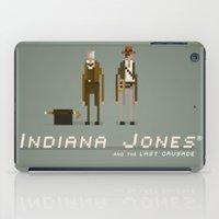 indiana jones iPad Cases featuring Pixel Art Indiana Jones by LoweakGraph
