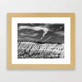 Cloudscape over Bryce Canyon Framed Art Print