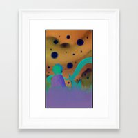 le petit prince Framed Art Prints featuring Le Petit Prince by Gimena Gusteler