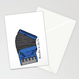 Accordion to who? Stationery Cards