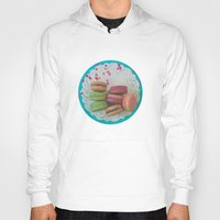 macarons Hoodies featuring Colorful Macarons by Jessica Torres Photography