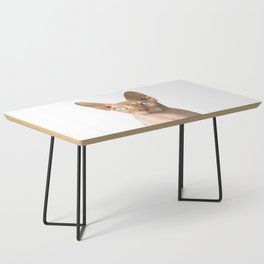 Sphynx cat portrait Coffee Table