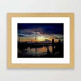 A New England Sunset. Framed Art Print