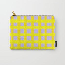 Gingham yellow and purple  Carry-All Pouch