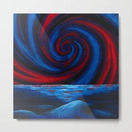 Red Waterspout Metal Print