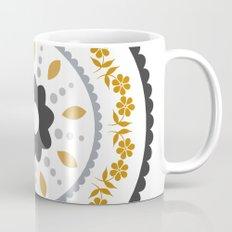 Floral suzani inspired golden centred Mug