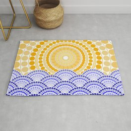 LIGHT OF DAWN (abstract tropical) Rug