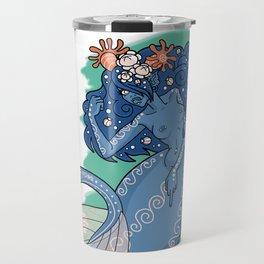 Mermaid Grabs Back Travel Mug