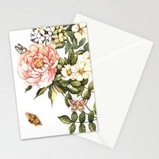 Vintage floral watercolor background Stationery Cards