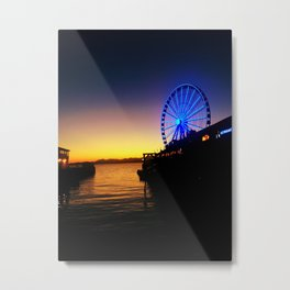 Seattle Pier Metal Print