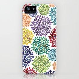 Rainbow Floral iPhone Case