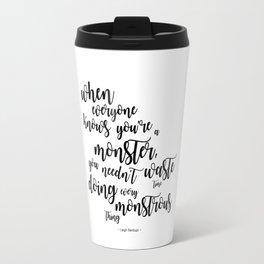 monster (kaz brekker) Travel Mug