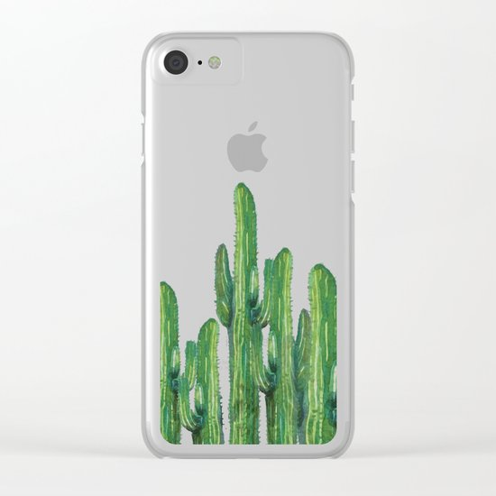 cactus 4 Clear iPhone Case
