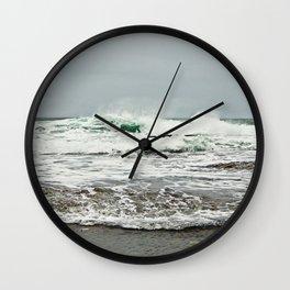 Sea Breaks on the Tidal Shelf Wall Clock