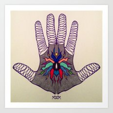 Hand Of Happiness  Art Print