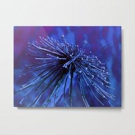 Wild Flower-Purple Blue Metal Print