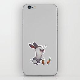 cautious bunny iPhone Skin