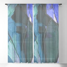 Abstraction 317I by Kathy Morton Stanion Sheer Curtain