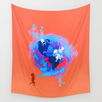 earth Wall Tapestries featuring Earth by Pepe Psyche