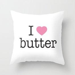 I Heart Butter Throw Pillow