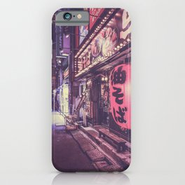 Shop in tokyo night street iPhone Case