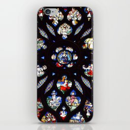 Stained glass sainte chapelle gothic iPhone Skin