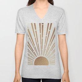 Sun Shines Inside you-Gold Edition Unisex V-Neck