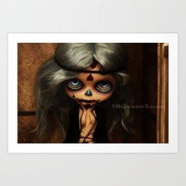 My Delicious Bliss Custom Blythe Frida Sugar Skull Art Print
