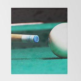 Pool Table-Green Throw Blanket